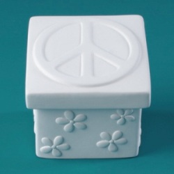 Duncan Bisque 29877 Peace Daisy Box