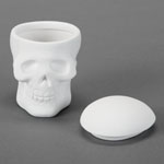 Duncan Bisque 32854 Skull Box