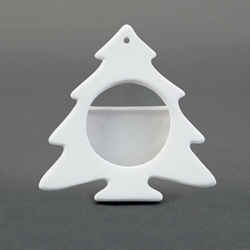 Duncan Bisque 34389 christmas tree frame ornament