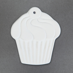 Duncan Bisque 34391 cup cake ornament