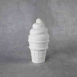 Duncan Bisque 38178 ice cream cone bank