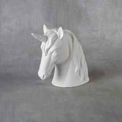 Duncan Bisque 38282 unicorn head bank