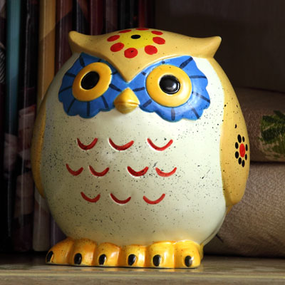 Duncan Bisque FP Owl Bank 2