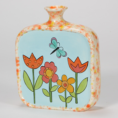 Mayco Bisque FP Spring Flower Bottle