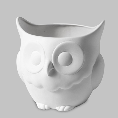 Mayco Bisque MB1331 Owl Planter