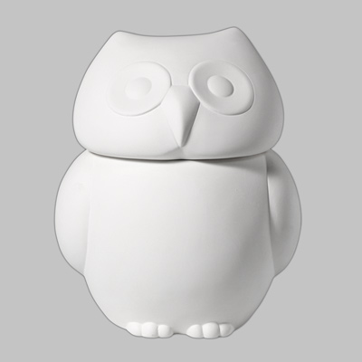 Mayco Bisque MB1332 Owl Cookie Jar