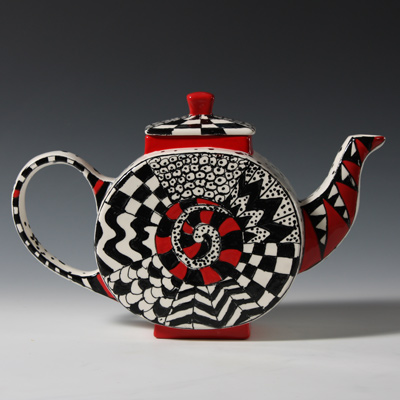 Mayco Bisque MB1336 Asian Teapot FP