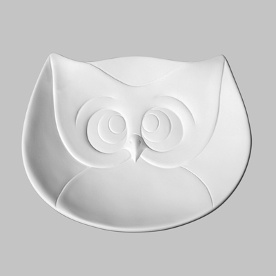 Mayco Bisque MB1351 Owl Dish