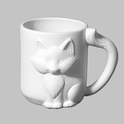 Mayco Bisque MB1395 Fox Mug
