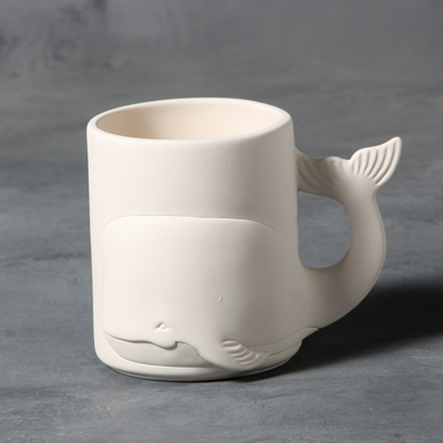 Mayco Bisque MB1407 Whale Mug
