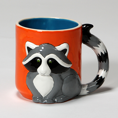 Mayco Bisque MB1414 Raccoon Mug FP