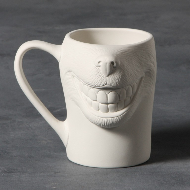 Mayco Bisque MB1440 Big Smile Dog Mug