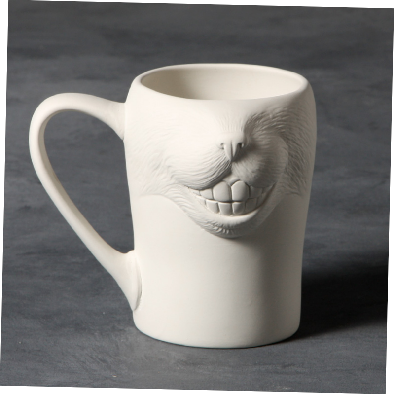 Mayco Bisque MB1441 Big Smile Cat Mug