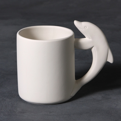 Mayco Bisque MB1448 Dolphin Mug