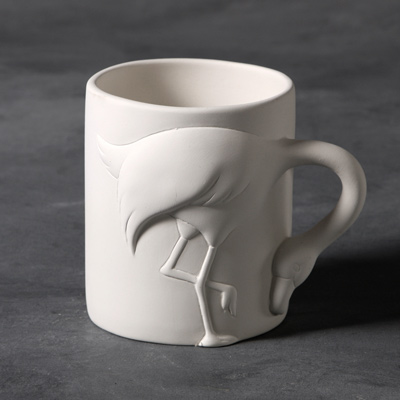 Mayco Bisque MB1449 Flamingo Mug