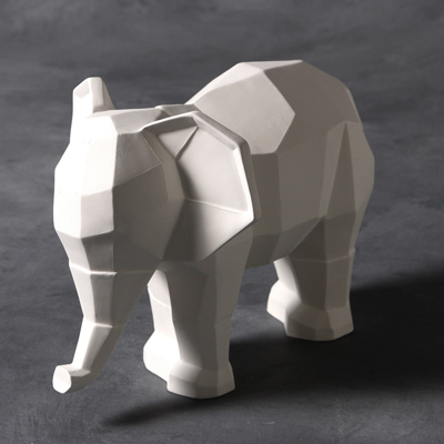 Mayco Bisque MB1459 Faceted Elephant