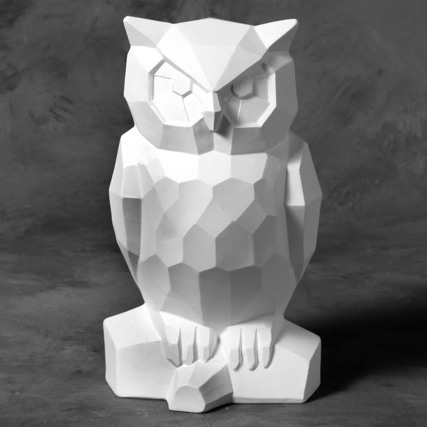 Mayco Bisque MB1477 Faceted Owl