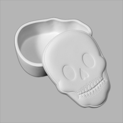 Mayco Bisque Skull Box MB1382