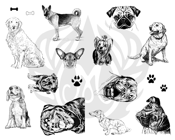 Mayco Silk Screens dss0119Dogs